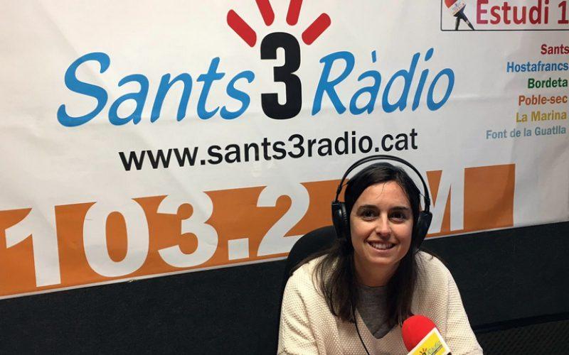 Entrevista en Sants 3 Ràdio